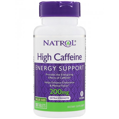 Natrol Caffeine High 200 mg 100 таблеток