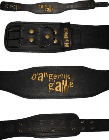 Mad Max Атлетический пояс Contoured Full Leather Belt Restless and Wild (арт.999)