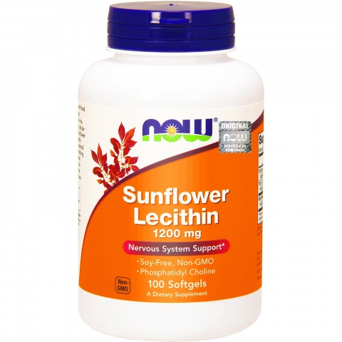 NOW SUNFLOWER LECITHIN 1200 mg 100 софтгелей