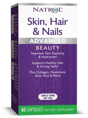 Natrol Skin Hair Nails with Lutein